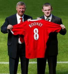 В «Манчестер Юнайтед» Руни получил футболку с номером «8»
